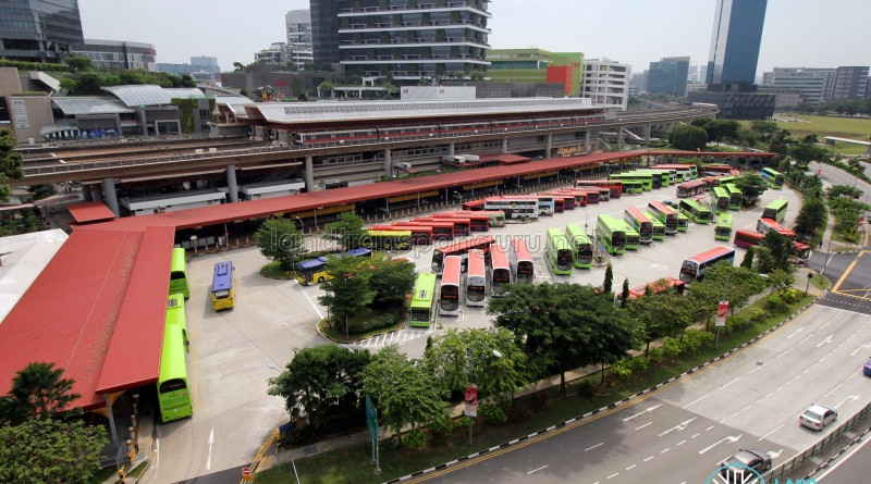 Jurong East Bus Interchange - Overhead