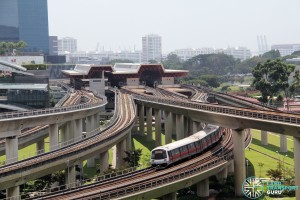 Track viaducts west of Jurong East