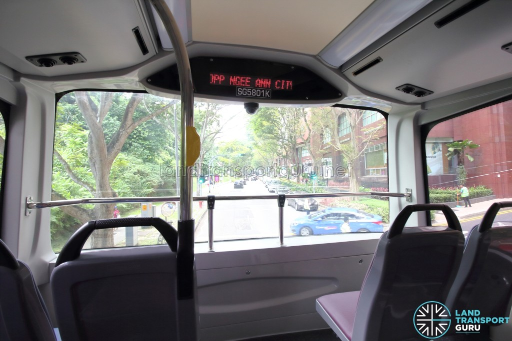 MAN A95 - Upper deck front windscreen with Passenger Information System