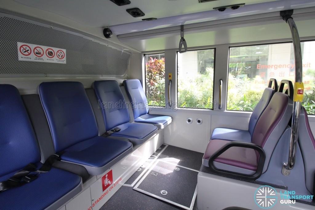 MAN A95 - Lower Deck: Rear row of seats