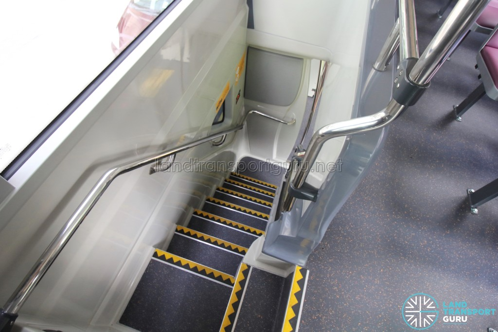 MAN A95 - Staircase to Lower Deck