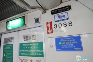 Kawasaki Heavy Industries C151 - Builder Plate and stickers
