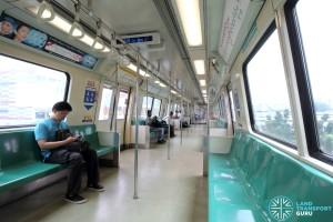 Siemens C651 - Green car interior
