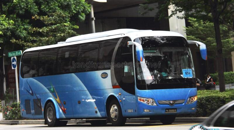 City Direct 654 - BT&Tan Yutong ZK6107H (PA3888R)