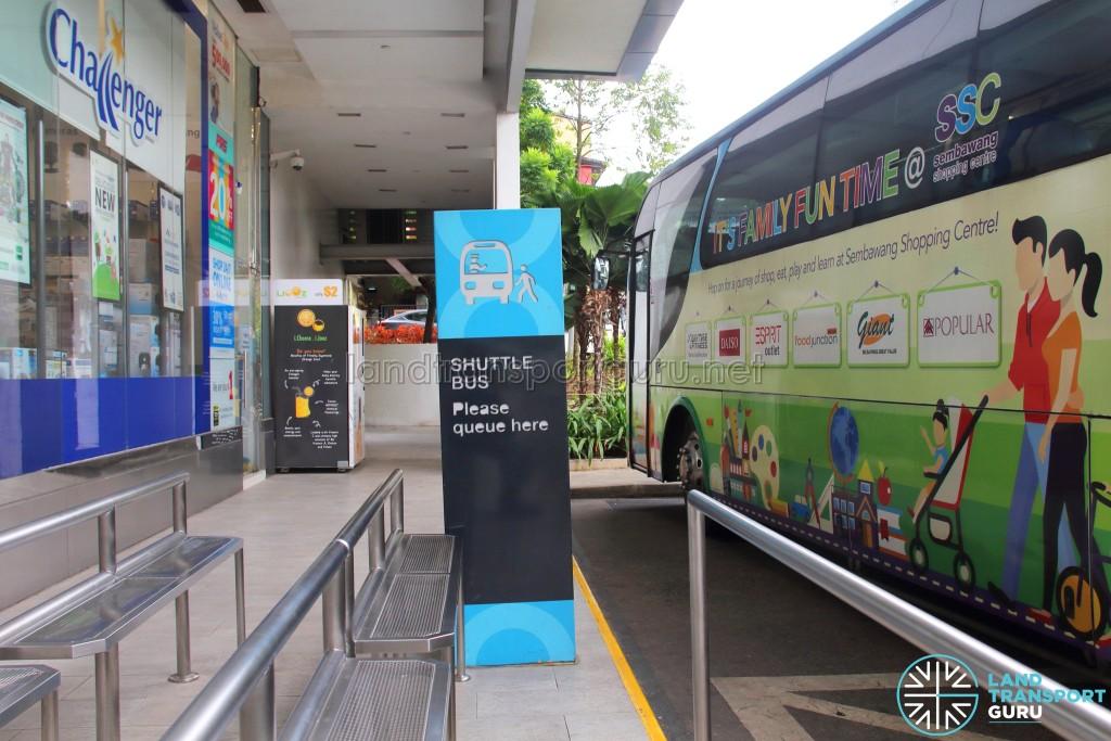 Sembawang Shopping Centre Shuttle - Boarding queue area