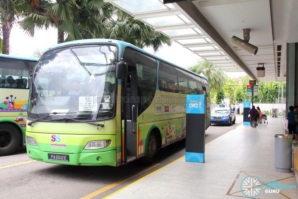 Sembawang Shopping Centre Shuttle - Boarding and Alighting point