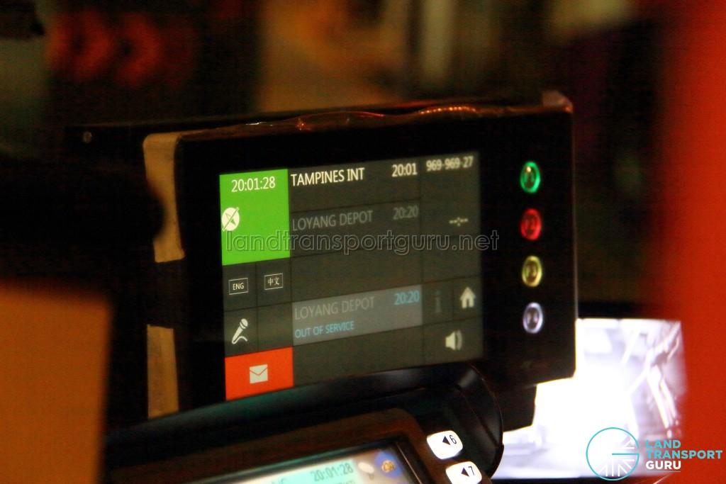 CFMS Driver Display Unit for Service 969 (End Trip)