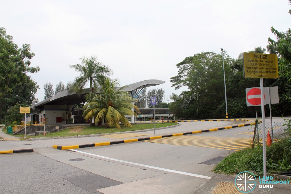 Tuas Bus Terminal - Vehicular ingress/egress leading to Tuas West Drive
