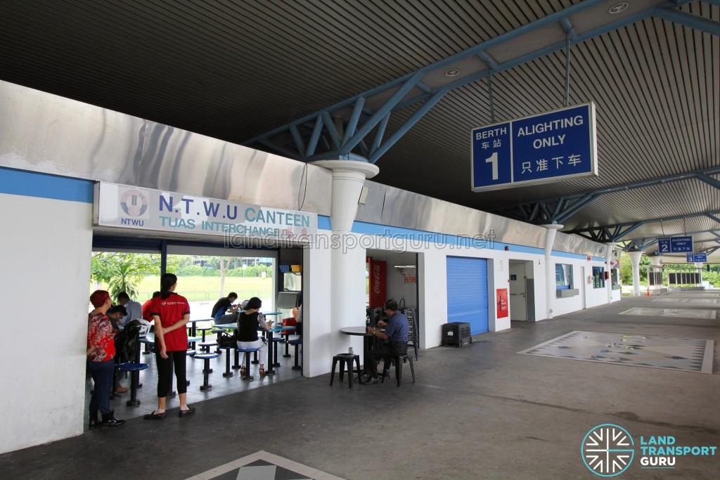 Tuas Bus Terminal - NTWU Canteen near Alighting Berth 1