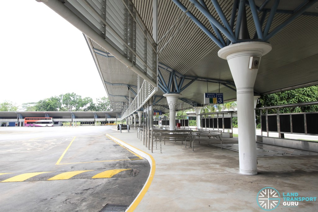 Tuas Bus Terminal - Concourse near Boarding Berth 3