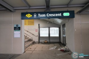 Tuas Crescent MRT Station - Exit A (Stairs access)