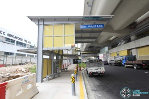 Tuas Crescent MRT Station - Exit B & Bus Stop along Pioneer Road (Eastbound)