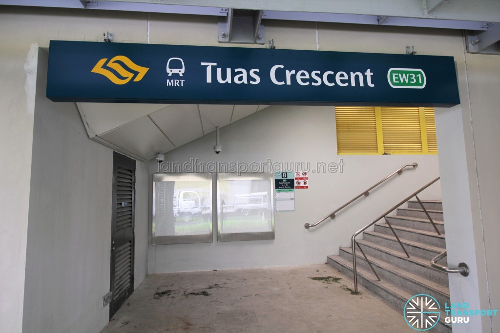 Tuas Crescent MRT Station - Exit B (Stairs access)