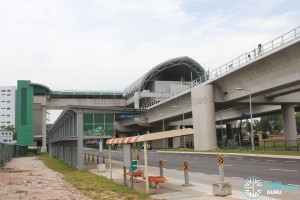 Tuas Link MRT Station - Exterior from Tuas West Drive