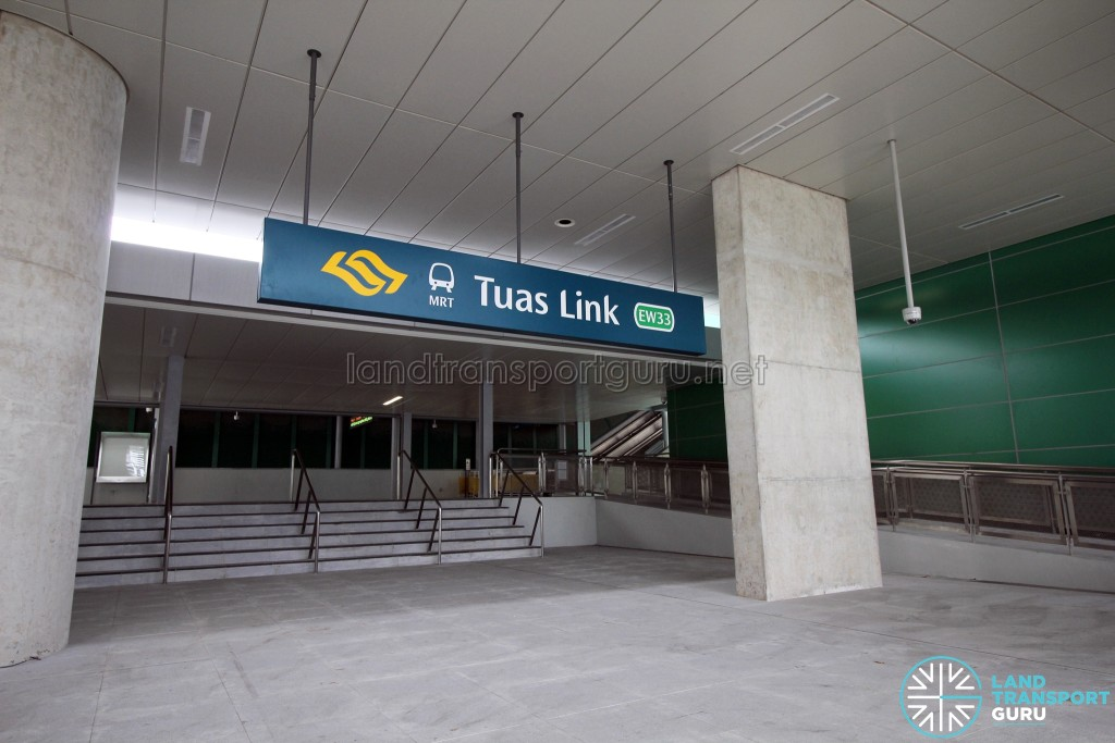 Tuas Link MRT Station - Exit B along Tuas West Drive (Northbound)