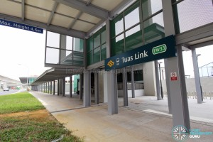 Tuas Link MRT Station - Linkway to bus stop & Lift Access (Tuas West Drive southbound)