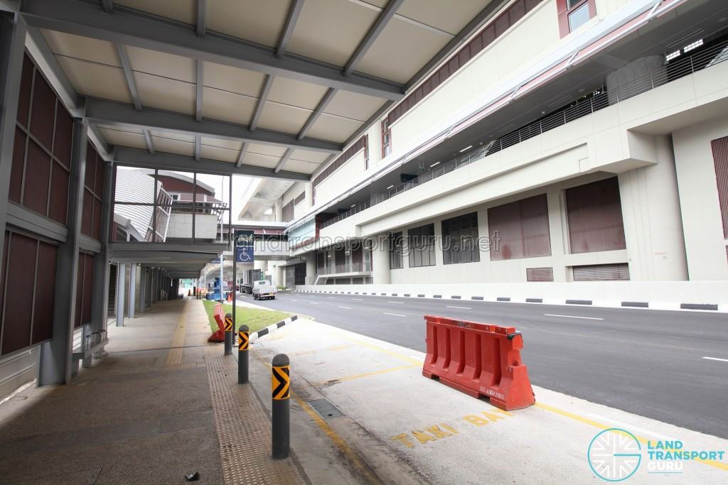 Tuas West Road MRT Station - Exit B & Pick-up/Drop-off Point along Pioneer Road (Westbound)