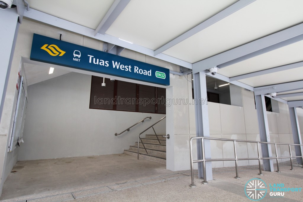 Tuas West Road MRT Station - Exit B (Stairs access)
