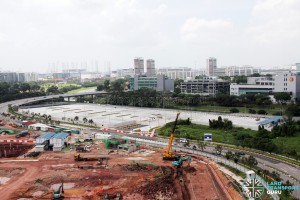 Ulu Pandan Bus Depot - Overhead view of completed Bus Park