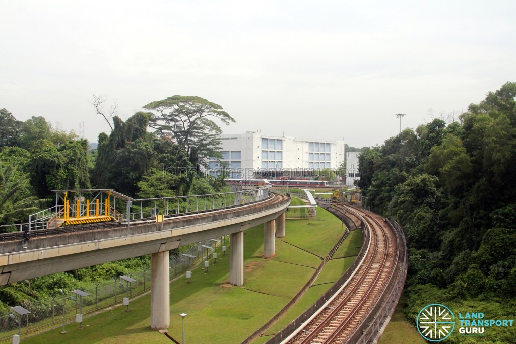 Ulu Pandan MRT Depot - Reception tracks towards Jurong East