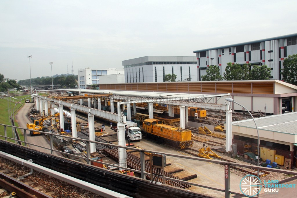 Ulu Pandan MRT Depot - Works locomotive stabling yard and Reception track towards Clementi