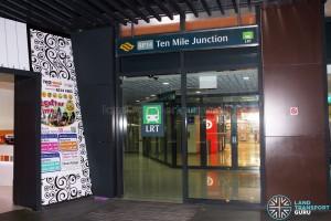 Ten Mine Junction LRT Station - Street level entrance