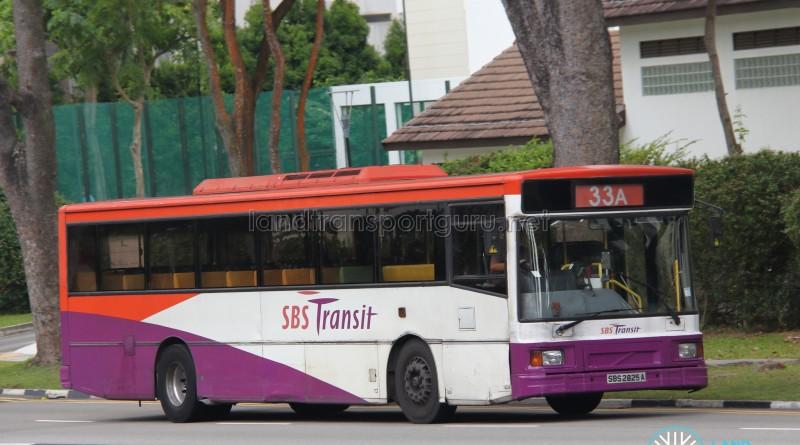 SBS Transit Volvo B10M MkIV (SBS2825A) - Service 33A