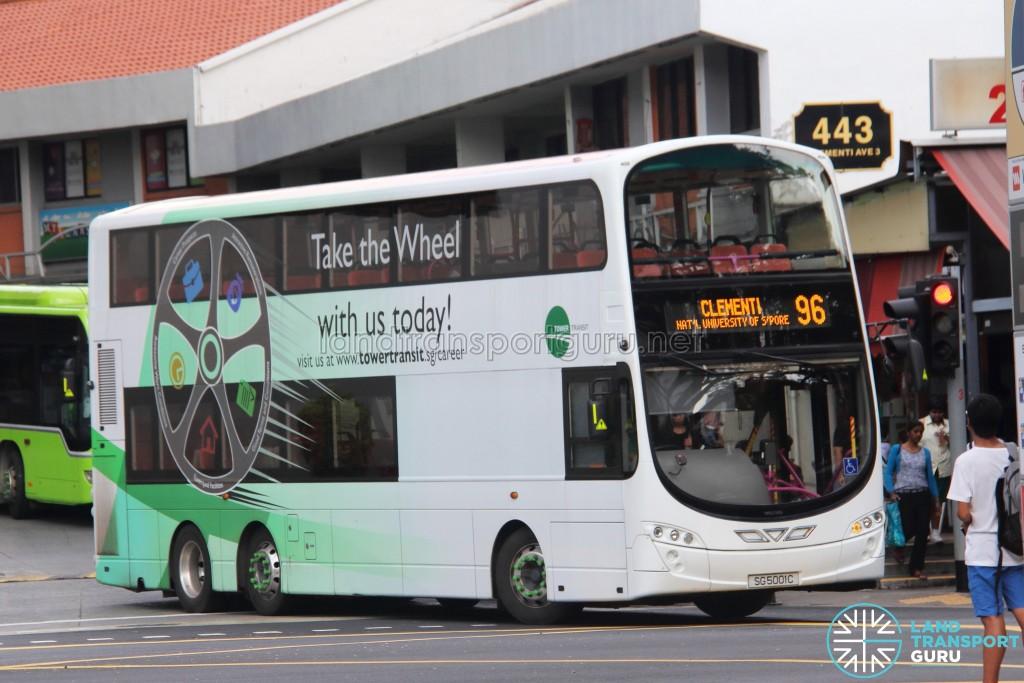 Tower Transit Volvo B9TL Wright (SG5001C) - Service 96