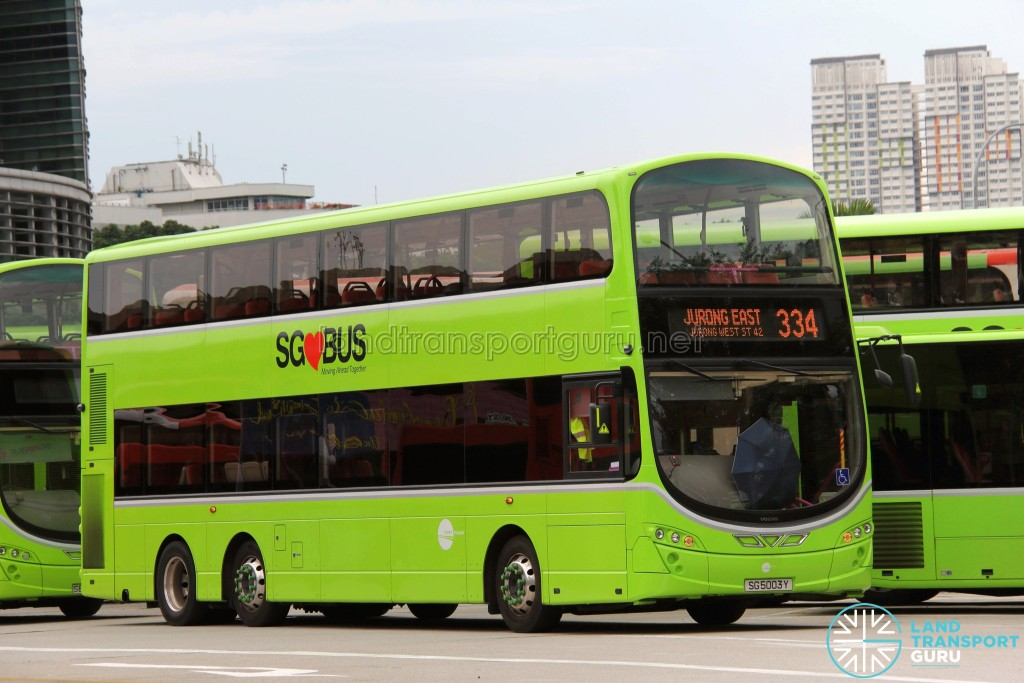Tower Transit Volvo B9TL Wright (SG5003Y) - Service 334