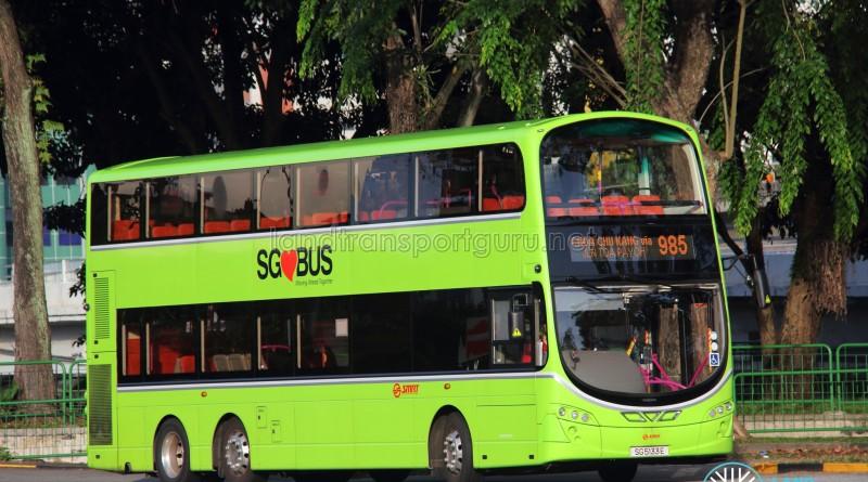 SMRT Buses Volvo B9TL (SG5133E) - Service 985
