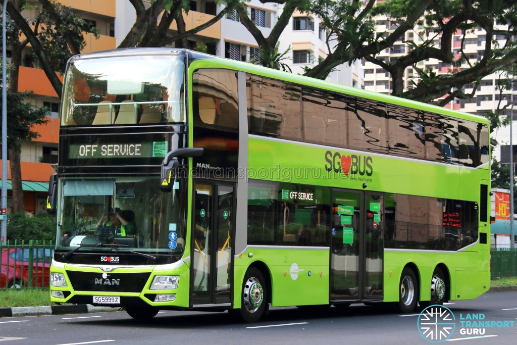 Tower Transit MAN A95 (SG5999Z) - Off Service