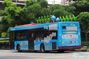SBS Transit Scania K230UB (SBS8700L) - Service 74, featuring 3D advertising