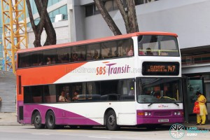 SBS Transit Dennis Trident (SBS9689E) - Service 147