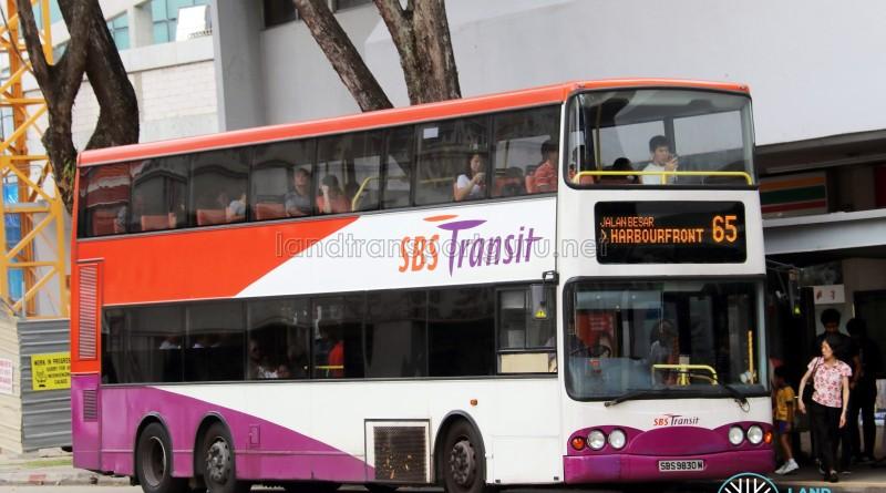 SBS Transit Volvo B10TL (SBS9830M) - Service 65