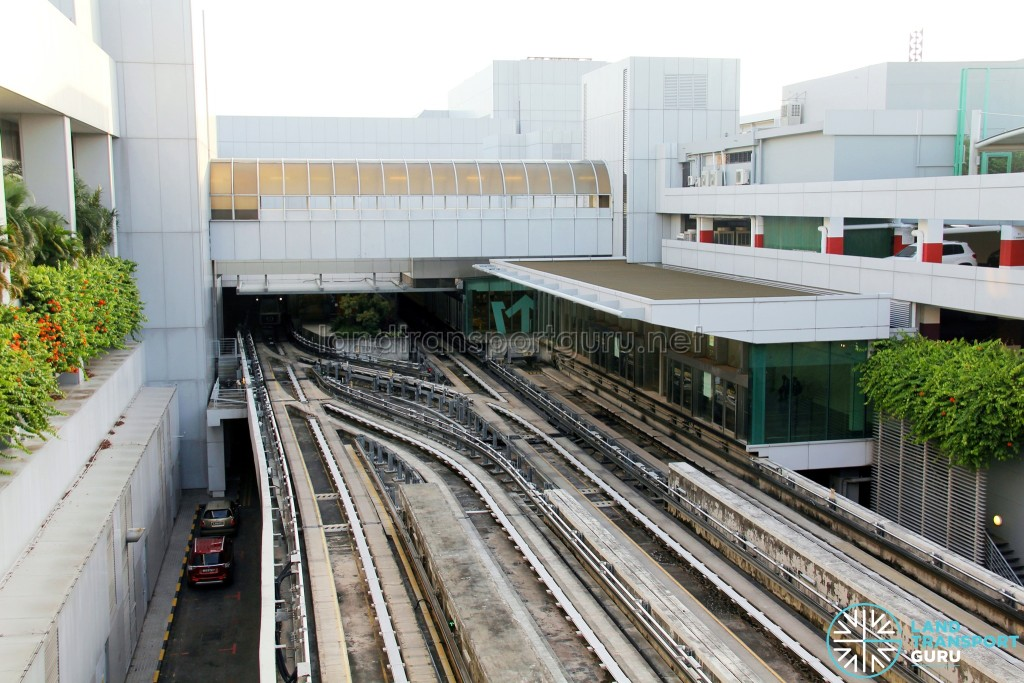 Changi Airport Skytrain tracks at Station C