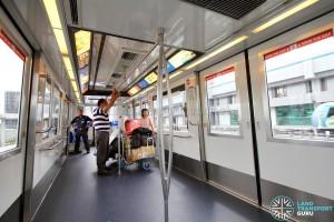 Changi Airport Skytrain - Blue Interior