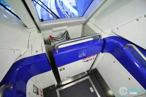 Changi Airport Skytrain - Blue Interior - Emergency Ramp