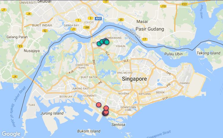 Route G33 at a glance. Map Image: Beeline.sg
