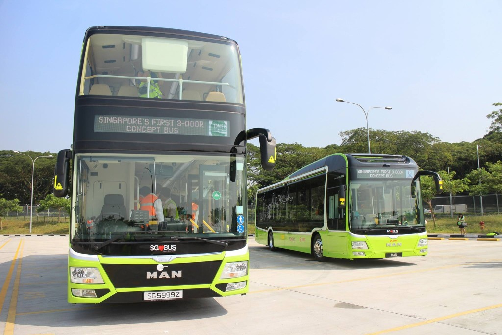 LTA's 3 Door Concept Double Deck & Single Deck Buses - LTA Facebook Page