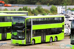 MAN A95 (SG5817R) in Lush Green base colors, yet to be registered