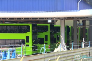 Gemilang Coachworks - MAN A95 buses with rear panels opened