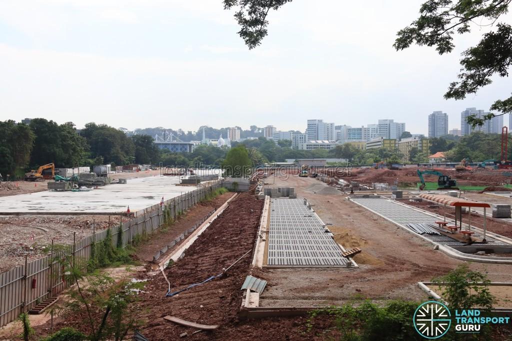 New Bridge Road Bus Terminal - March 2017 construction progress