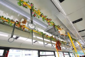 Stuffed toys and interior decorations onboard the Mandai Express