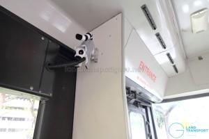Stuffed lemur near the entrance of the Mandai Express bus