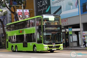 Tower Transit - MAN Lion's City DD L Concept Bus (SG5999Z) - Service 143, travelling down Orchard Road