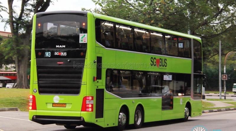 Tower Transit - MAN Lion's City DD L Concept Bus (SG5999Z) - Service 143 - Rear