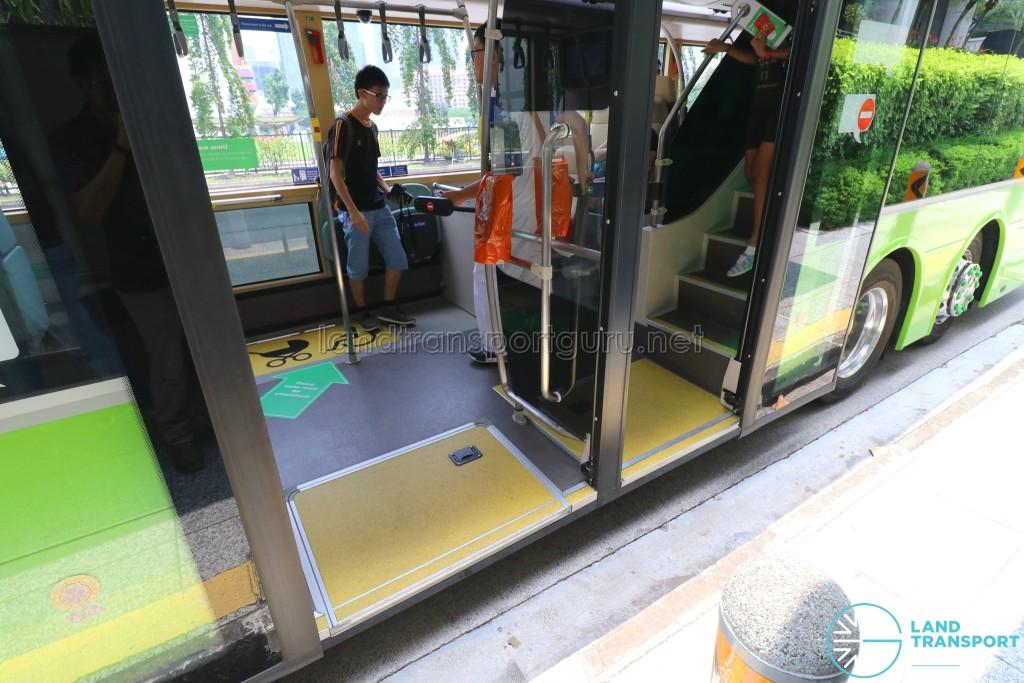 MAN Lion's City DD L Concept Bus (SG5999Z) - Exterior view of exit doors