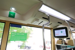 MAN Lion's City DD L Concept Bus (SG5999Z) - Passenger Information Display System (PIDS) on Upper Deck (Midsection)