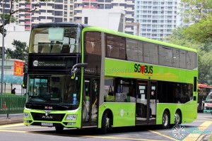 MAN Lion's City DD L Concept Bus (SG5999Z) - Tower Transit EDS Display