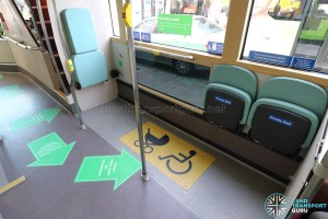 Wheelchair Bay onboard a public bus